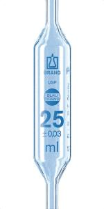 Pipetas volumétricas, BLAUBRAND®, 1 marca, classe AS, USP